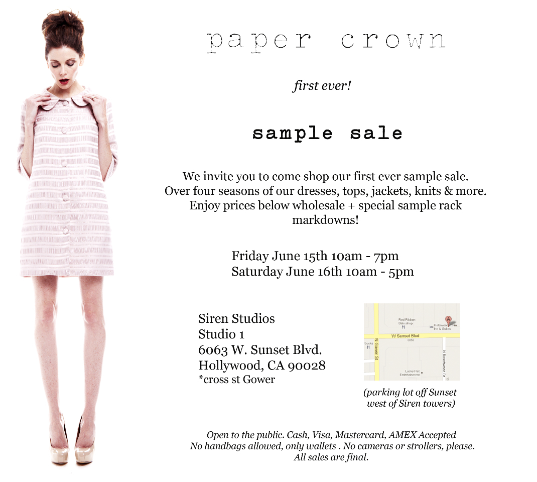 papercrownSampleSale!