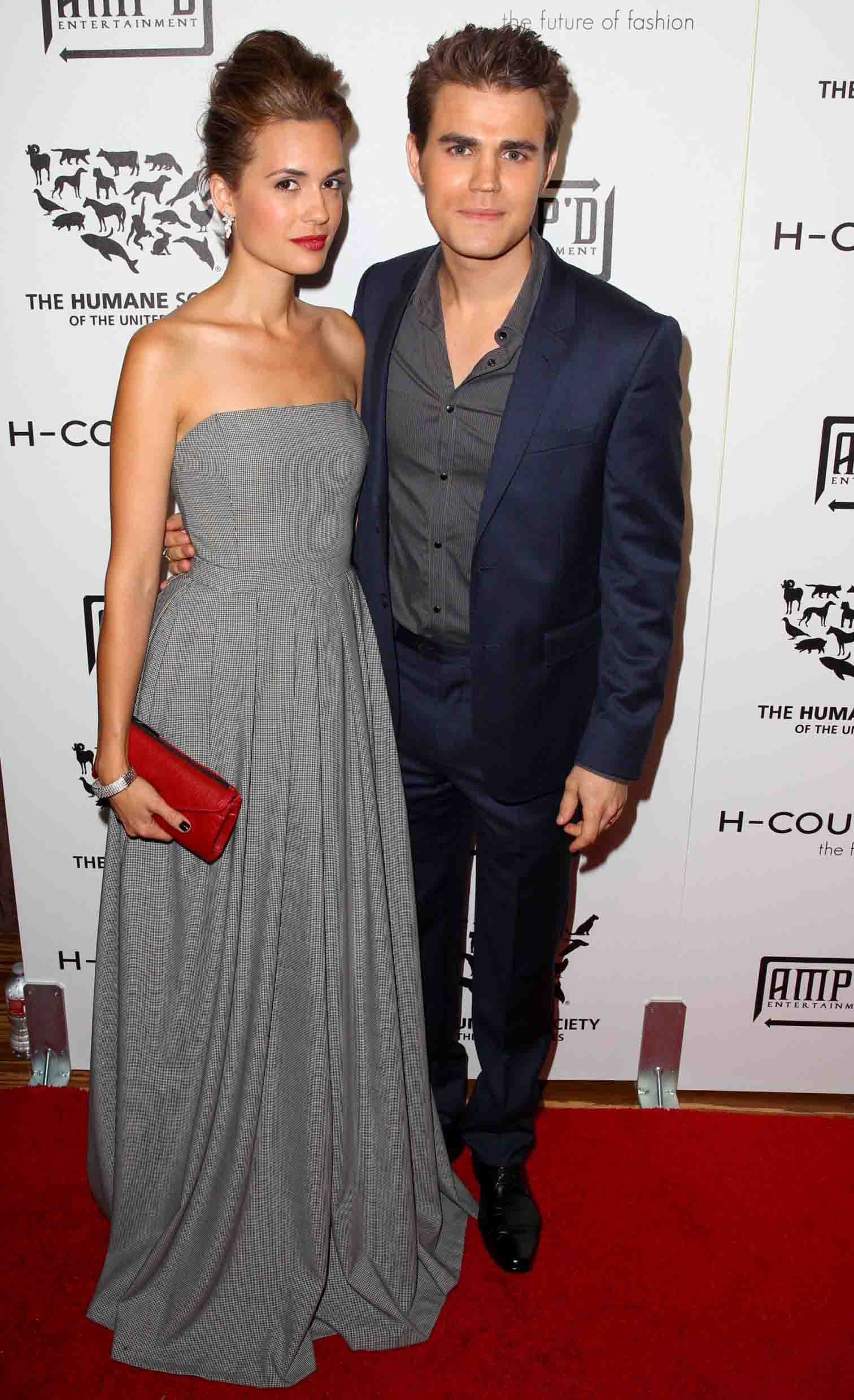 Paul Wesley and Torrey DeVitto host the Humane Society of the United States H-Couture 2012 Fur-Free Fashion Show
