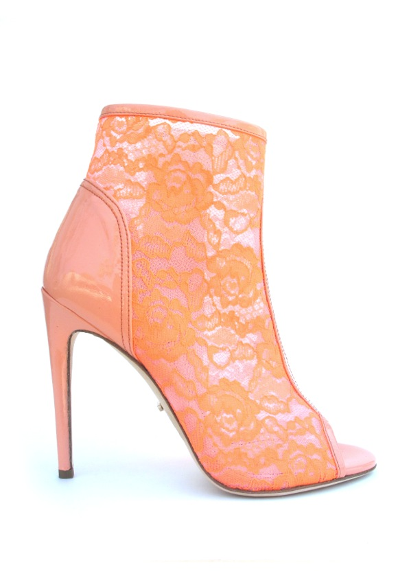 jerome_Juda - Neon lace with Peach Patent trims 1