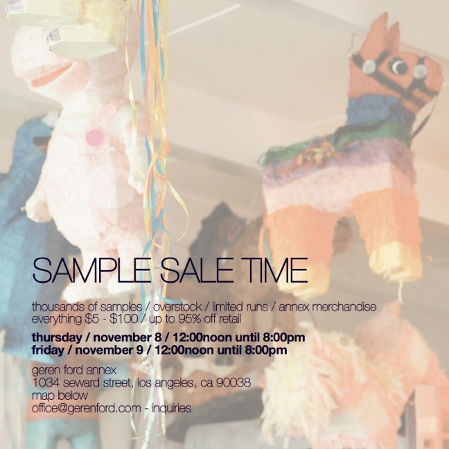 Geren November Sample Sale
