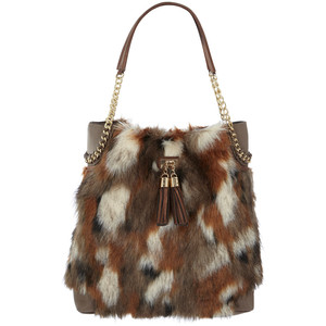 faux fur bag