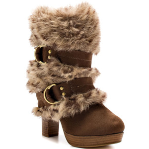 faux naught monkey boot