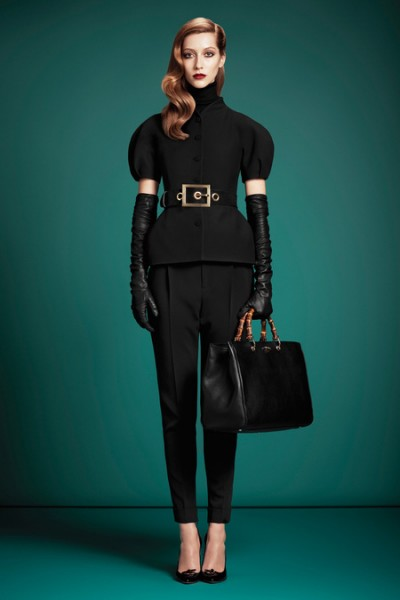 gucci pre fall 2013 champagne and heels
