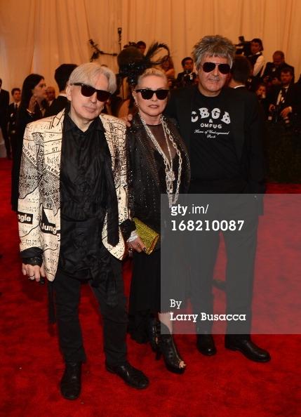 Clem Burke, Debbie Harry and Chris Stein of Blondie