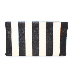 stripes+kelly clutch