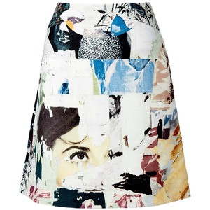 collage skirt carven