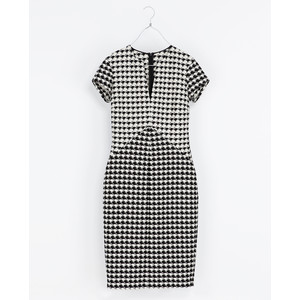houndstooth dress zara