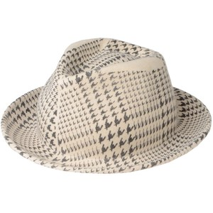 houndstooth hat moschino love