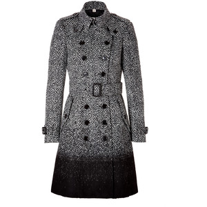 houndstooth tweed burberry coat