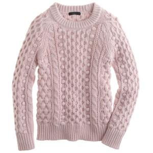 pink sweater j crew