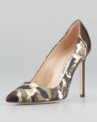 Camo Pumps Manolo