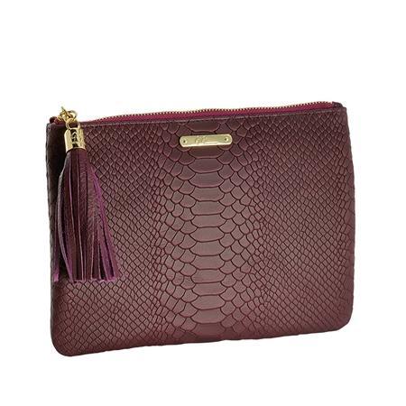 burgundy clutch