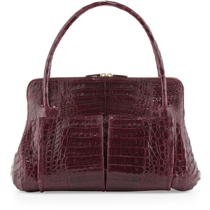 burgundy nancy croc bag