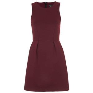 burgundy topshop dress