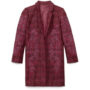 burgundy tory burch coat