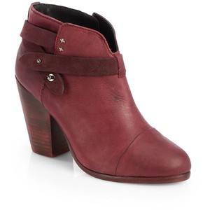 burgundy wine rag and bone boots