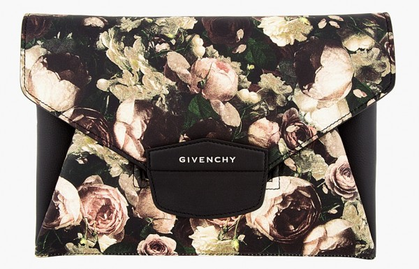 Givenchy-Black-Beige-Rose-print-Antigona-envelope-clutch