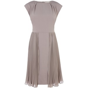grey dress kaliko pleat dress
