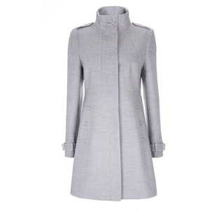 grey seam funnel coat