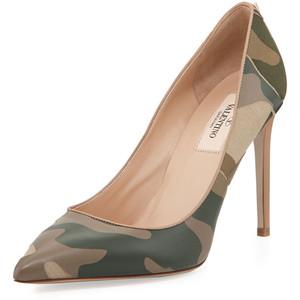 camo valentino heels