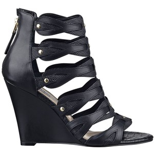 cheap black wedge sandal guess