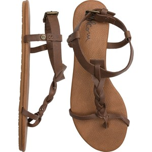cheap sandals brown leather volcom