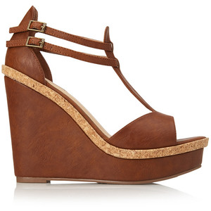 cheap wedge sandals brown leather forever