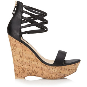 cheap wedge strappy sandals forever
