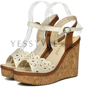 cheap wedges white cutout yesstyle