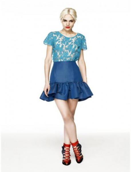 dee lace top and skirt