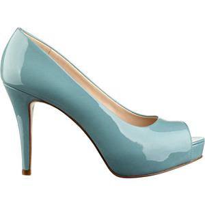 nine west camya heels aqua