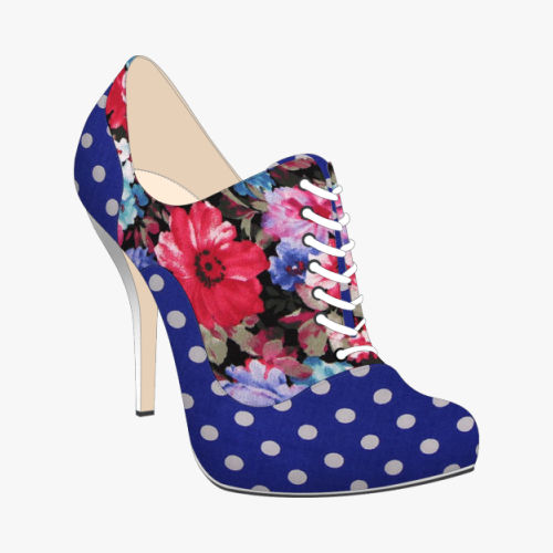 projectshoe polka dot flower oxford