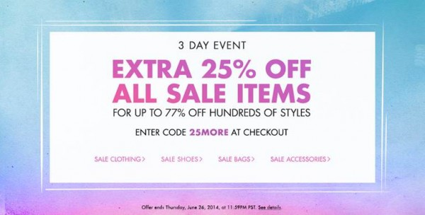 sample sale shopbop sale