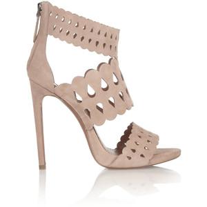 blush alaia sandals