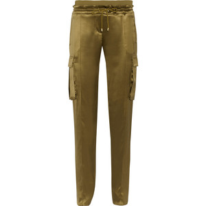 balmain silk trousers