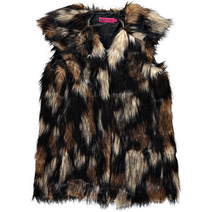 faux fur boohoo vest