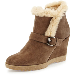 faux fur boot
