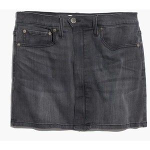 Blk denim skirt madewell