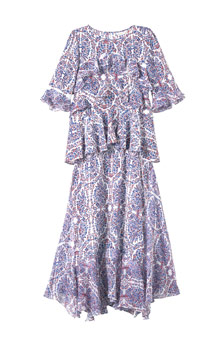SHOPBOP_Rebecca Taylor paisley double layer dress