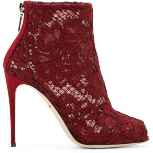 burgundy dolce gabbana boot